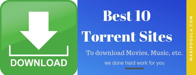 Best 10 Torrent Movie Download Sites.