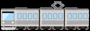 電車のイラスト(グレー)