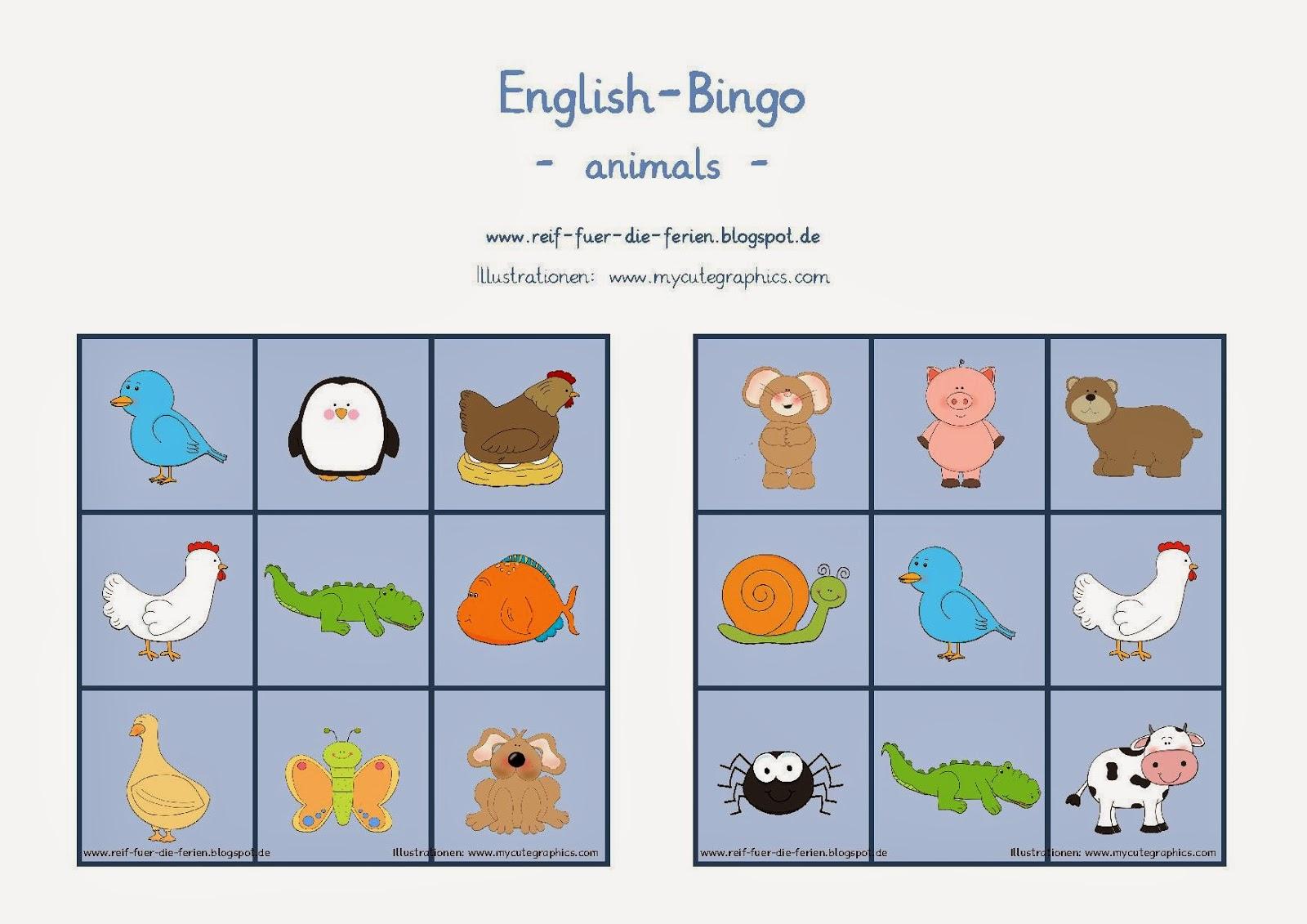 Bilder Bingo Zum Ausdrucken