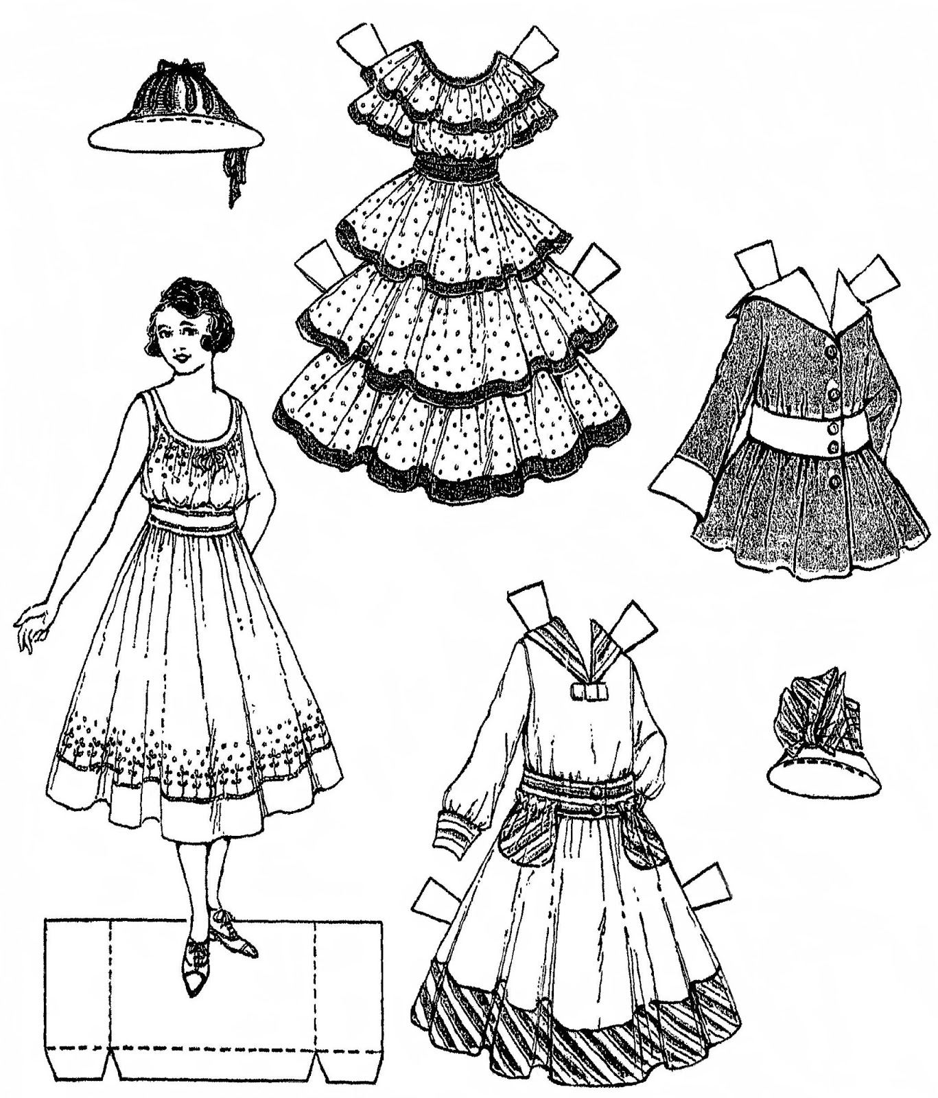 Mostly Paper Dolls Too!: 1916 Paper Doll