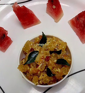 Watermelon rind stir fry