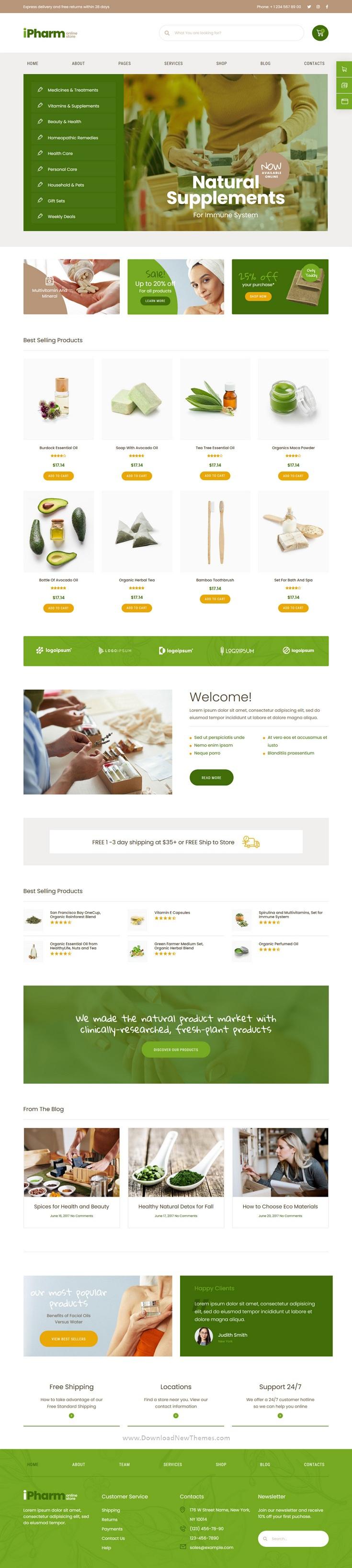 Online Pharmacy Woocommerce Elementor Template Kit