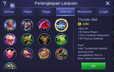 Thunder Belt Mobile Legends