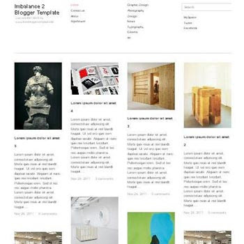 Imbalance 2 blogger template. clean and minimalist blogspot template. download free blogger template