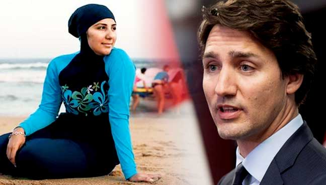 PM Kanada Tolak Cadangan Haramkan Pakaian Renang Burkini
