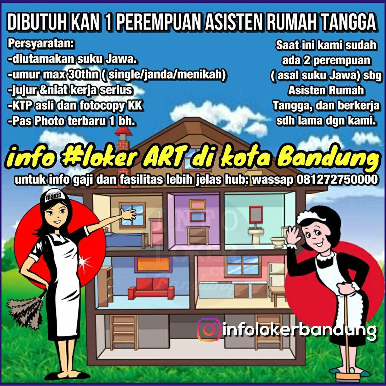Lowongan Kerja Asisten Rumah Tangga Bandung September 2018
