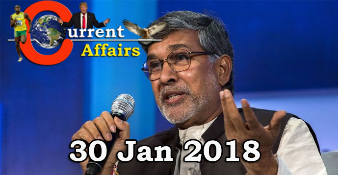 Kerala PSC - Daily Current Affairs 30/01/2018