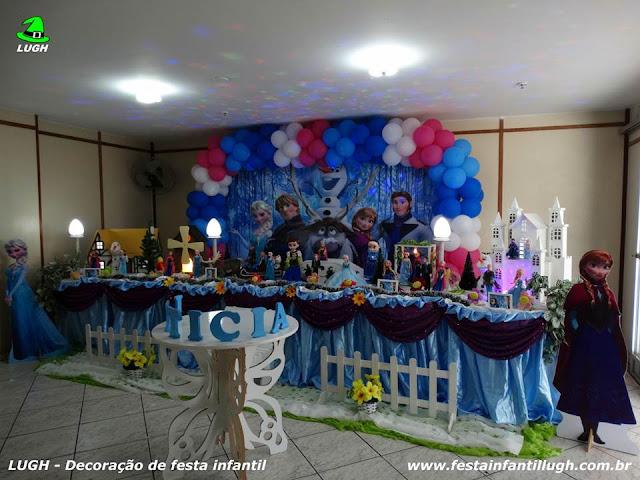 Decoração tradicional super luxo - Festa Frozen