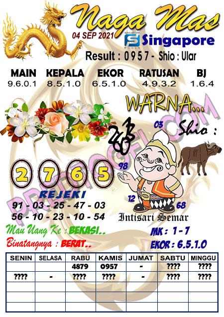 Syair Nagamas SGP Sabtu 04 September 2021
