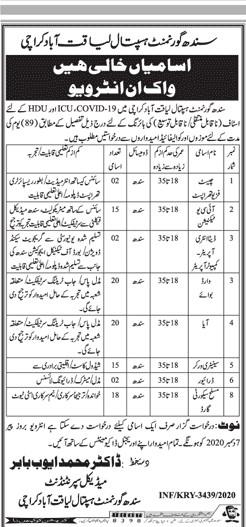 Govt Jobs in Pakistan Government Hospital Liaqatabad Karachi Sindh Latest December 2020 Jobs in Pakistan