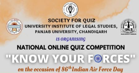 """National Online Quiz Competition on """"Know Your Forces"""""""