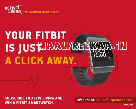 Get Healthy And Win Fitbit Smartwatch
