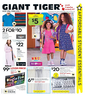 Giant Tiger Flyer valid August 22 - 28, 2019 Lower Price