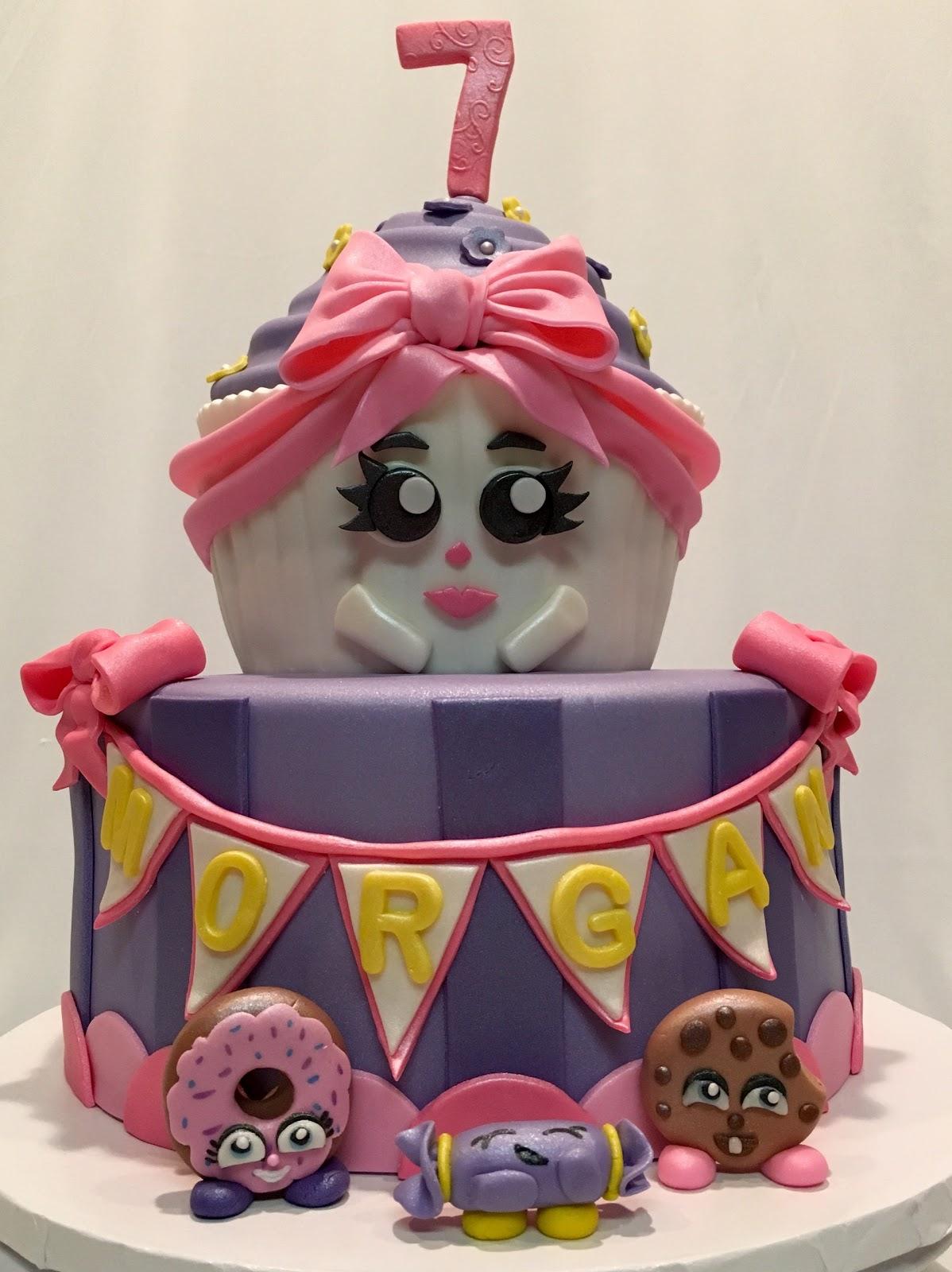 MyMoniCakes Shopkins Cupcake Cake With Fondant Mini Shopkins