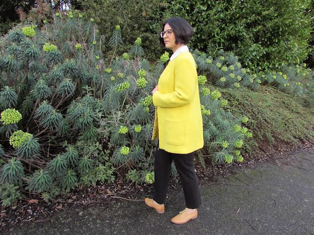 bold yellow coat