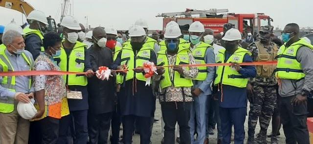 Dr. Bawumia Commissions New Liquid Bulk Terminal At Takoradi Port