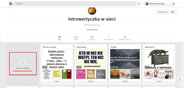 Pinterest - Utwórz tablicę