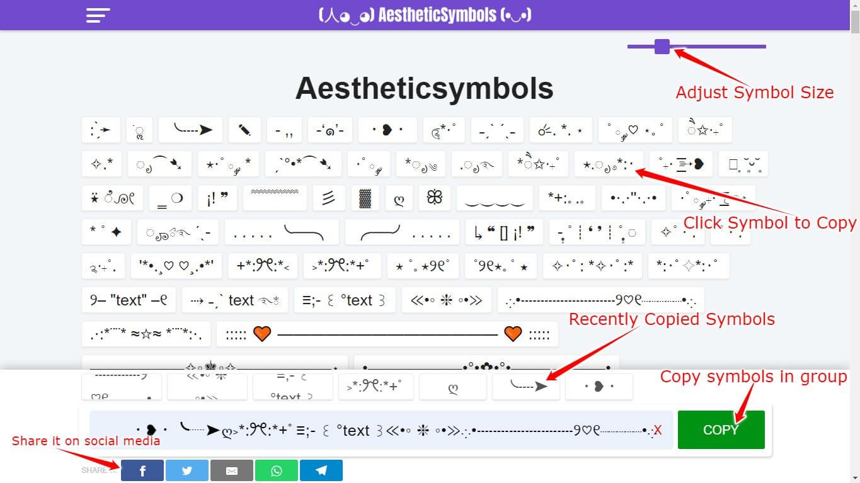 How to use Aesthetic Symbols website on Laptop/Desktop