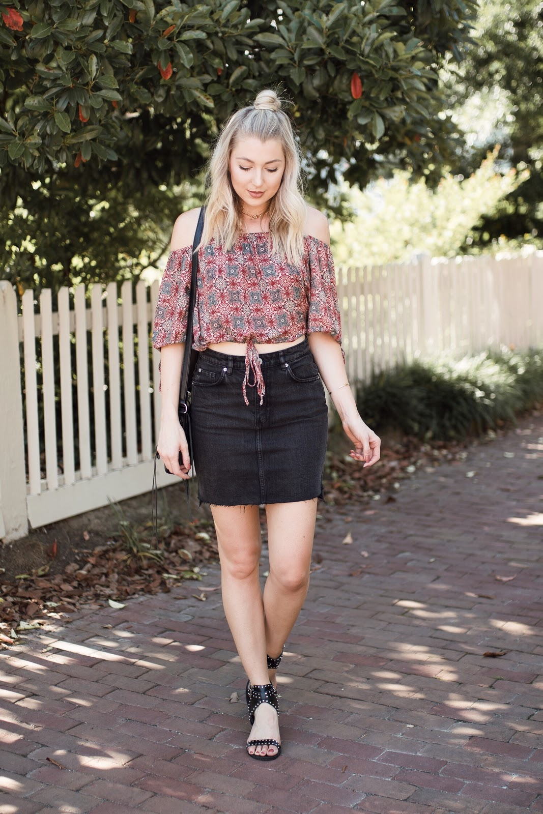 cute summer trend: denim mini skirts