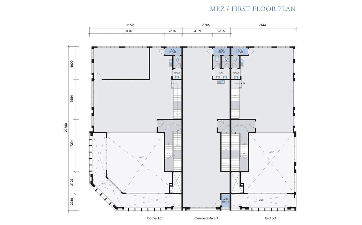 Sansaigei sendayan merchant square for Mezzanine floor plan
