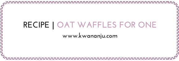 Oat Flour Waffles for One