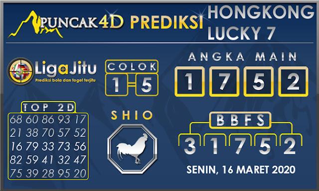 PREDIKSI TOGEL HONGKONG LUCKY7 PUNCAK4D 16 MARET 2020