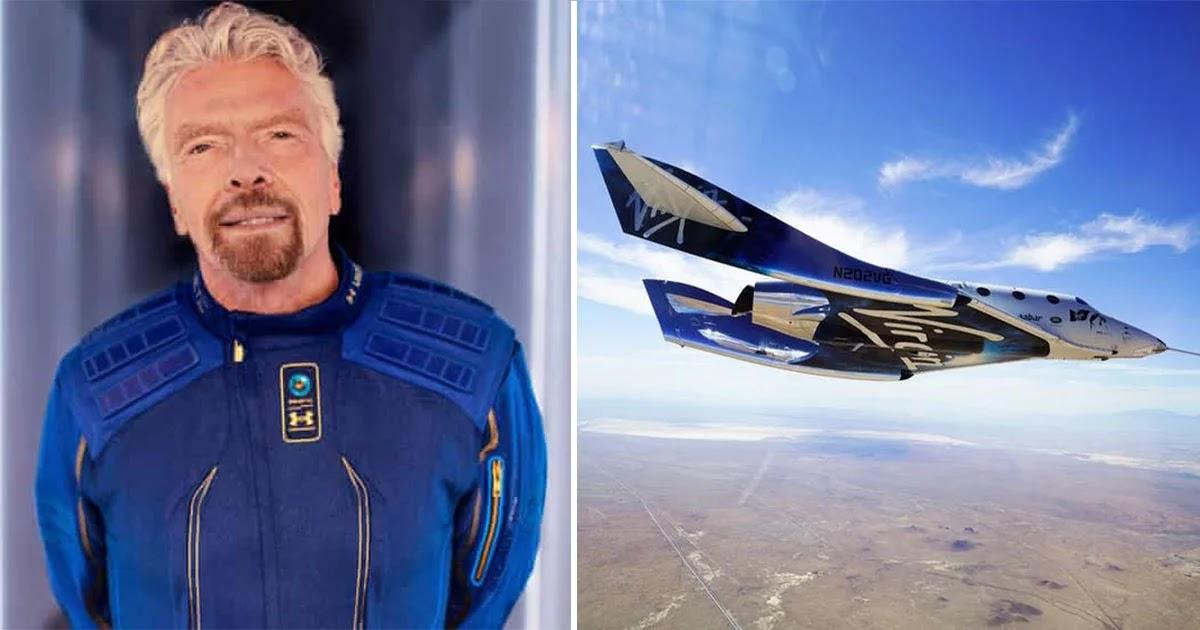 British Billionaire Richard Branson Successfully Flies Into Space On Virgin Rocket
