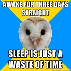 bipolar owl sleep is a waste of time