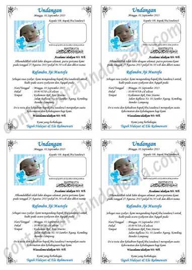 Download Beberapa Contoh Undangan Aqiqah Edisi Terbaru