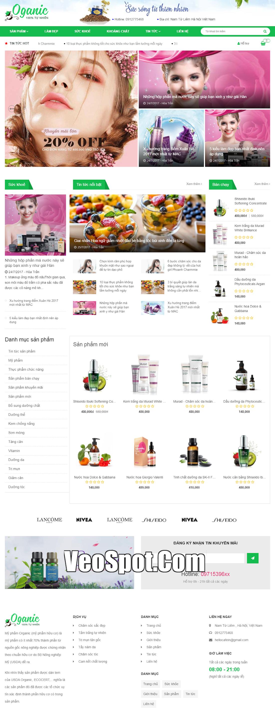 Template blogger bán hàng Oganic affiliate marketing