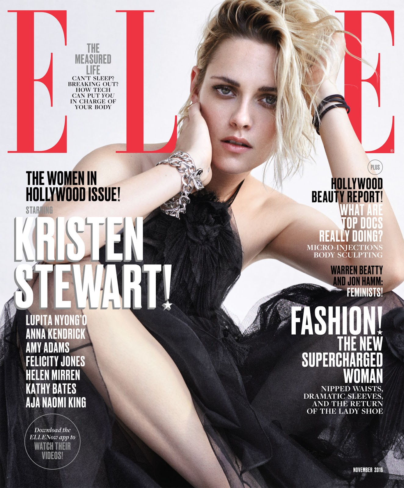 Kristen Stewart covers Elle US November 2016