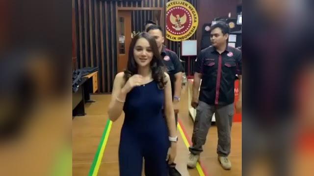 Viral Video Hana Hanifah Goyang TikTok, Lokasinya Terpampang Logo BIN