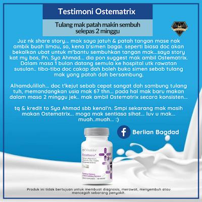 Testimoni Ostematrix Patah Tulang