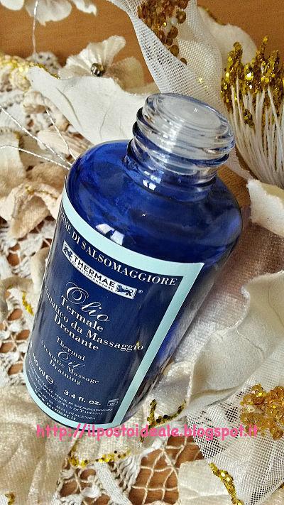 Thermae di Salsomaggiore olio termale aromatico da massaggio drenante