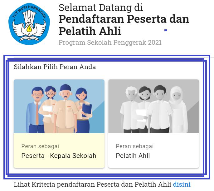 gambar pendaftaran calon kepala sekolah penggerak 2021