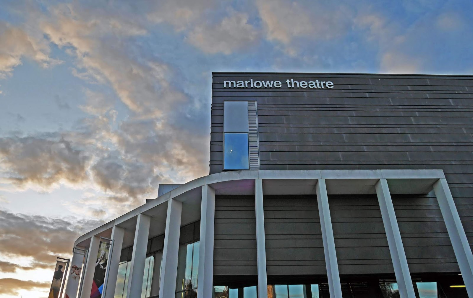 The Marlowe Theatre at sunset, Canterbury
