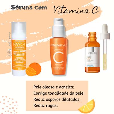 creme facial com vitamina C