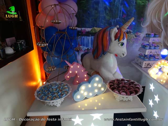 Decoração de aniversário infantil Unicórnio para festa feminina