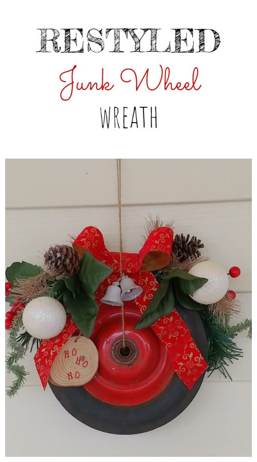 Restyled Junk Wheel Wreath
