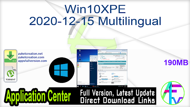 Win10XPE 2020-12-15 Multilingual