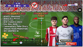 Download eFootball PES 2022 PPSSPP Mobile Final Update Peter Drury Commentary Camera PS5 Best Graphics & Latest Transfer