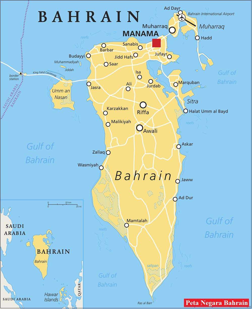 Peta Negara Bahrain