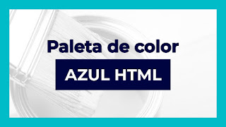 Paleta azul html