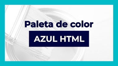 Paleta de color azul en html