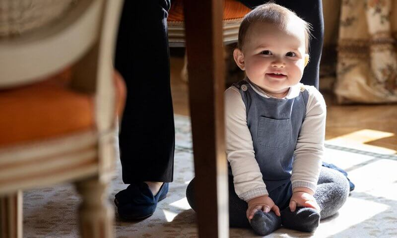 Hereditary Princess Stephanie and Hereditary Prince Guillaume celebrate the first birthday of their son Prince Charles