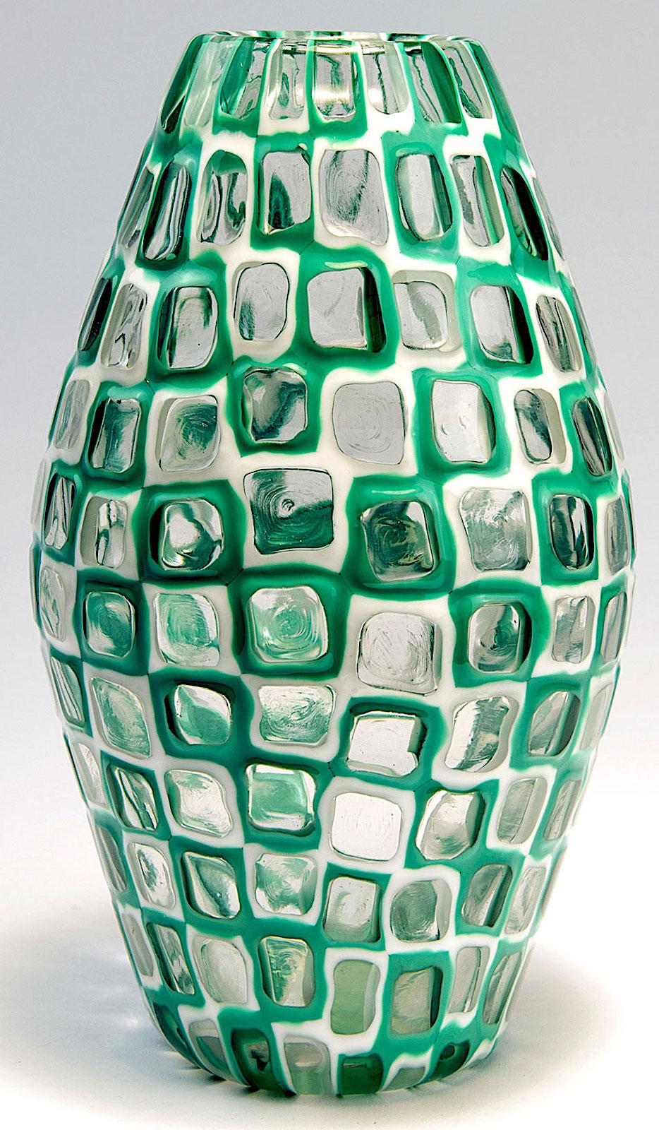 a green Murano vase 1960