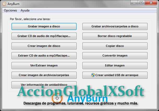 AnyBurn 4.1 + Portable | Grabador de CD / DVD / Blu-ray, liviano y práctico