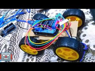 سيارة بالبلوتوث يمكنك صنعها بالمنزل ممتعة وغير مكلفة Smart Car Robot