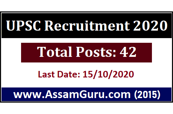 UPSC Recruitment 42 Posts