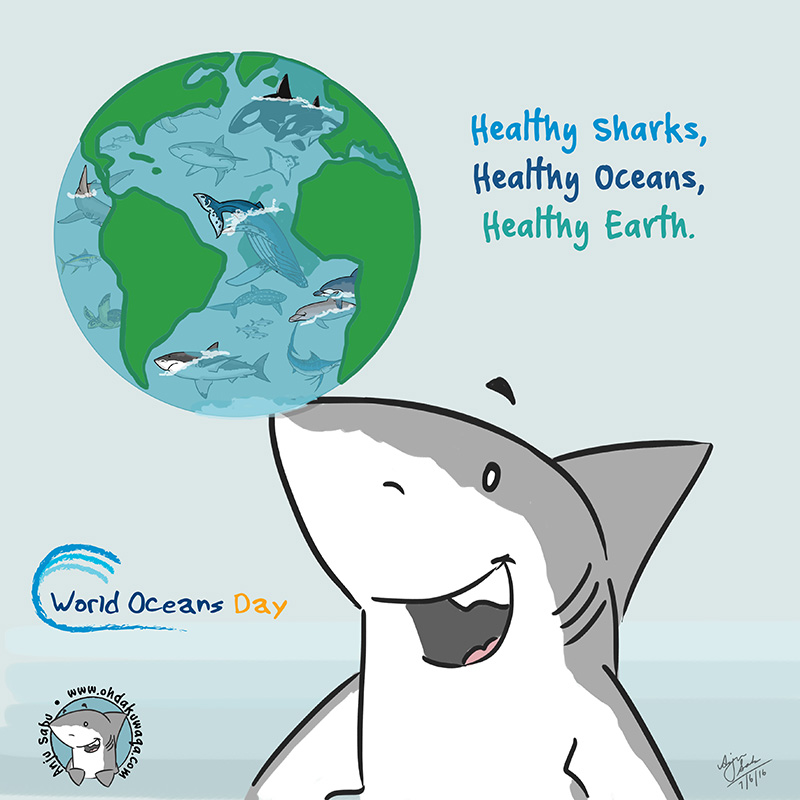 Oh Dakuwaqa The Shark Comics And Cartoons World Oceans Day - Important oceans of the world